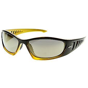 X-Loop Brand Eyewear Large Sports Wraparound Xloop Sunglasses w/ Ventilation