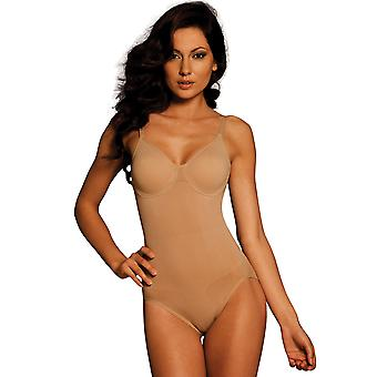 Womens Body Wrap Regular Pin Up Nude Underwired Bodysuit 44001