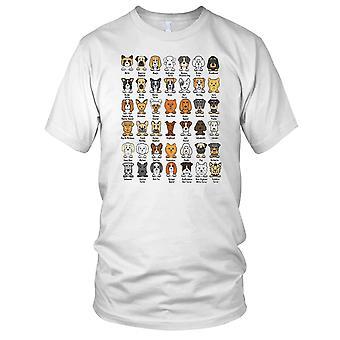 Dog Breed Cartoon Designs Mens T Shirt