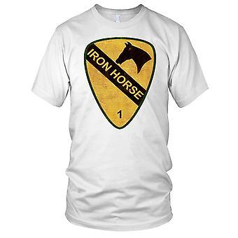 US Army 1 kavaleri 1 Brigade jernhesten Grunge effekt Mens T-skjorte