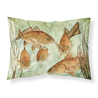 Carolines Treasures  8983PILLOWCASE Red Fish Swim Fabric Standard Pillowcase