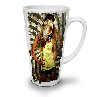 Girl Beast Wild Animal NEW White Tea Coffee Ceramic Latte Mug 12 oz | Wellcoda