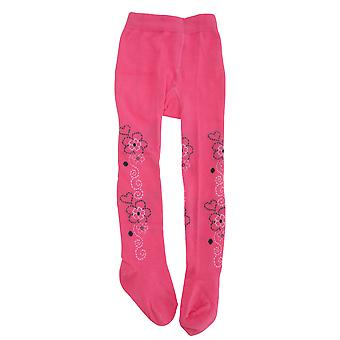 Baby Girls Cotton Rich Floral Design Tights