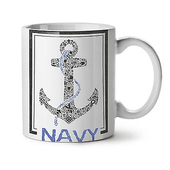 Navy Anchor Sea Vintage NEW White Tea Coffee Ceramic Mug 11 oz | Wellcoda