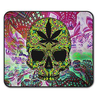 Skull Weed Stoner Rasta  Non-Slip Mouse Mat Pad 24cm x 20cm | Wellcoda