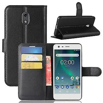 Prime de portefeuille poche noire pour Nokia 2 protection manches étui nouveau