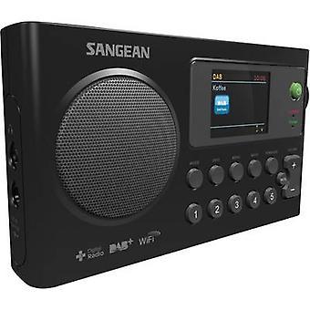 Sangean WFR-27 C الإنترنت المحمولة الراديو داب + ، FM راديو الإنترنت شاحن البطارية الأسود