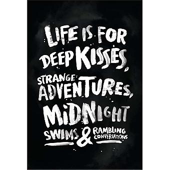 Жизнь является для глубоких поцелуев, странные приключения, Midnight плавает & бессвязное... Холодильник магнит