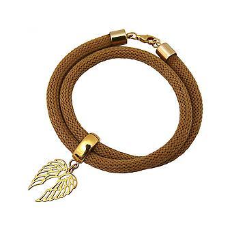 Brown - pulseira - pulseira - prata 925 - dourada - folha-