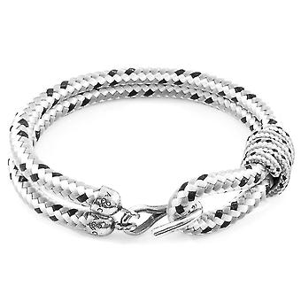 Anchor & Crew Grey Dash Great Yarmouth Silver and Rope Bracelet