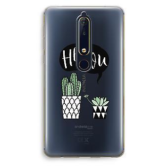 Nokia 6 (2018) gjennomsiktig sak (myk) - Hei du kaktus