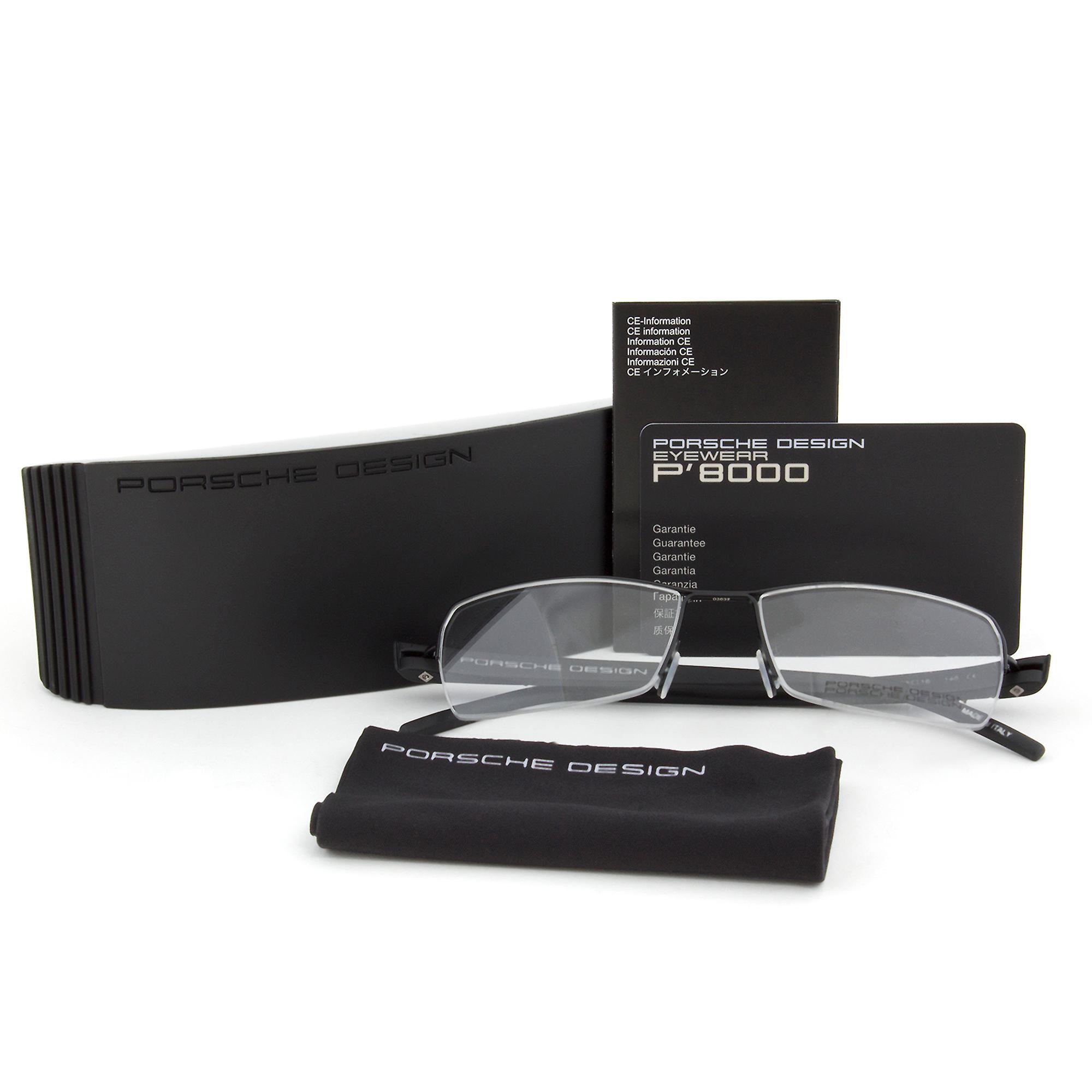 Porsche Design P8210 D Rectangular | Dark Grey| Eyeglass Frames