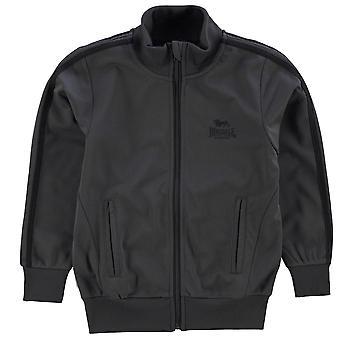 Lonsdale Kids Track Jacket Junior jongens Mock nek Full Zip geribde sport Top