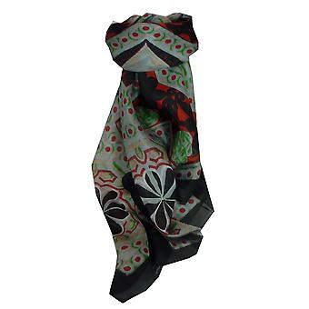 Mulberry Silk Contemporary Square Scarf Madhu Black by Pashmina & Silk