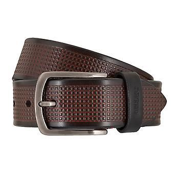 MIGUEL BELLIDO sports wear belts men's belts leather belt Black/Brown 7703