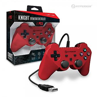 "PS3 ""Knight"" Premium Controller (Red) - Hyperkin"