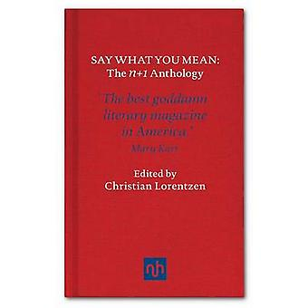 Say What You Mean - N+1 - The Anthology by Christian Lorentzen - 97819