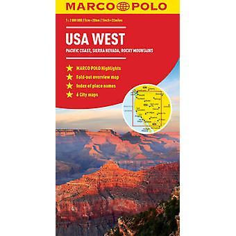 USA West Marco Polo Map by Marco Polo - 9783829767385 Book
