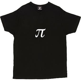 Pi V-Neck Black Men's T-Shirt