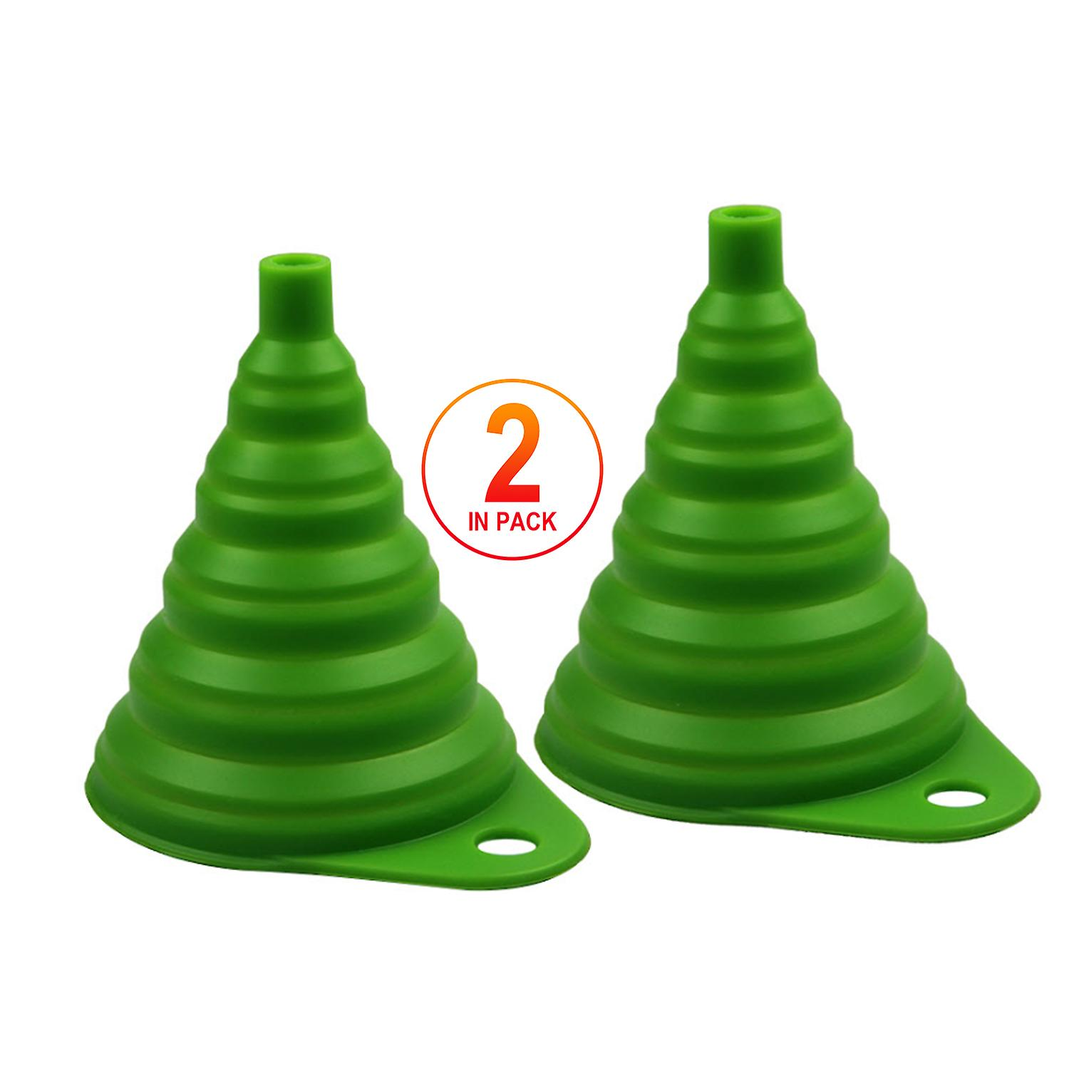 Tritina Home & Kitchen Foldable Funnel,Silicone Collapsible Style,BPA-free,Heat Resistant,for dishwasher