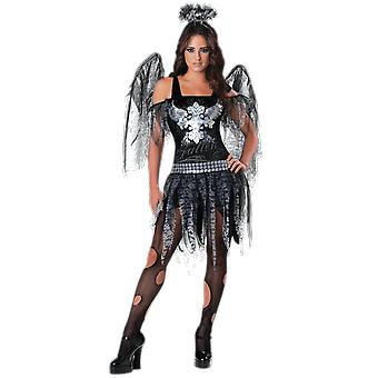 Dark Fallen Angel Fairy Books & Film Halloween Fancy Dress Costume