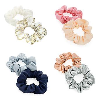 Two Piece 3.5cm Elasticated Hair Scrunchie Set