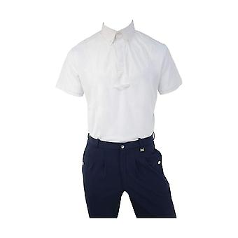 HyFASHION Mens Hadleigh Short Sleeved Tie Shirt