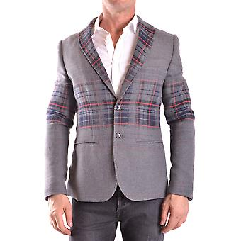 Daniele Alessandrini Ezbc107138 Men's Grey Cotton Blazer