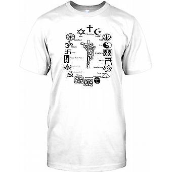 Welt Religionen Vergleich - Kinder T Shirt