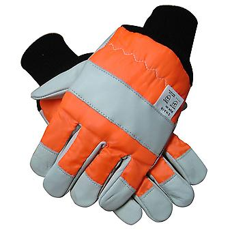 CHAINSAW SAFETY GLOVES BOTH HANDS PRO SIZE 9 CLASS 0