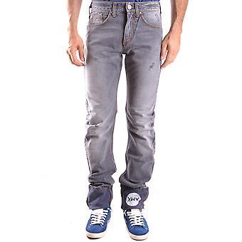 Andrew Mackenzie Ezbc245005 Mænd's Grå Denim Jeans