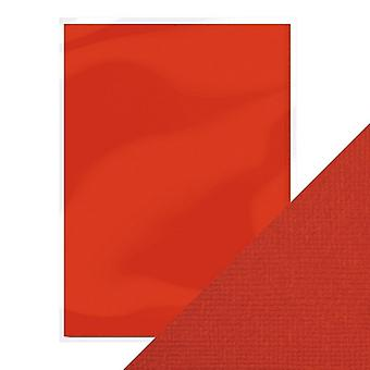 Craft Perfect by Tonic Studios A4 Weave Textured Card 10pk Chilli Red