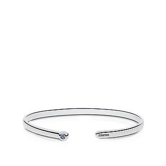 Stanford University Sapphire Cuff Bracciale In Sterling Silver Design di BIXLER