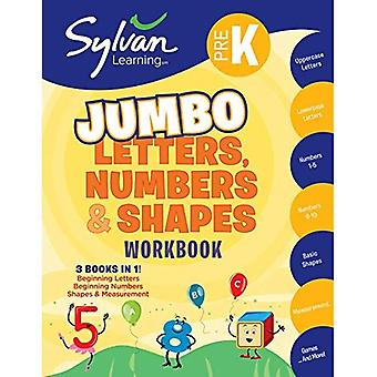 Pre-K Letters, Numbers & Shapes Super Workbook (Sylvan Super Workbooks) (Math Super Workbooks)
