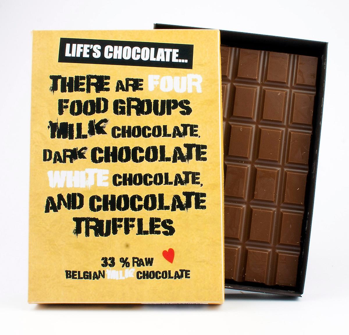 Funny Boxed Chocolate Quote Gift For Men Women Best Friend Greeting Card for Him or Her LC109
