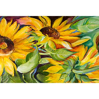 Carolines Treasures  JMK1122PLMT Sunflowers Fabric Placemat