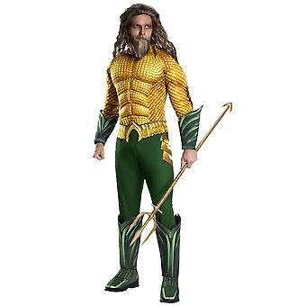 Aquaman Deluxe Muscle Justice League DC Comics Licensed Superhero Mens Costume