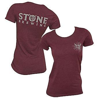 Stone Brewing Logo Femme-apos;s Bourgogne T-Shirt