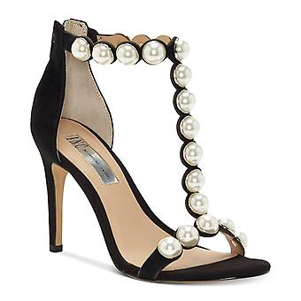 INC International Concepts Womens Raechelle Leather Open Toe Formal Ankle Str...