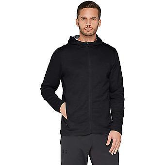 Under Armour Men ' s MK-1 Terry Full zip hoodie,, preto (001)/preto, tamanho grande