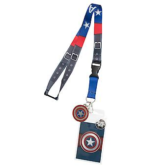 Captain America Blue Lanyard