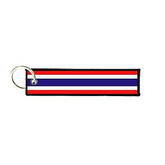 Port Cles Key Cle Homme Homme Fabric Brode Prints Thai Flag