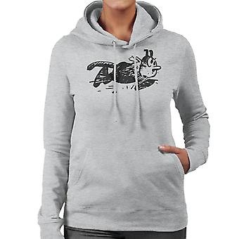 Krazy Kat Running Pose Women's Hooded Sweatshirt