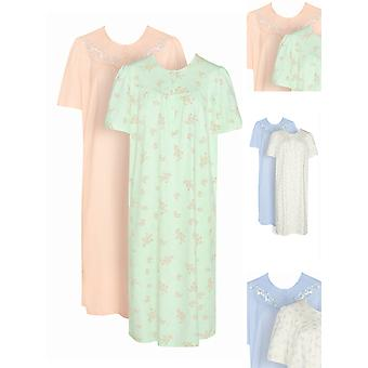 Timeless 100% Cotton Nightdress 2 Pack