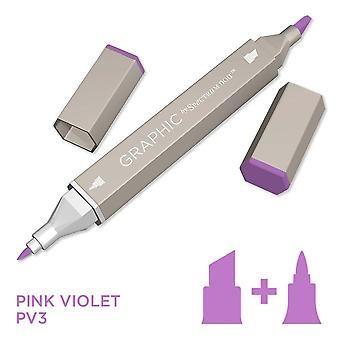 Graphic by Spectrum Noir Single Pens - Pink Violet