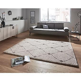 Design høj flor tæppe skabe grå mørkegrå