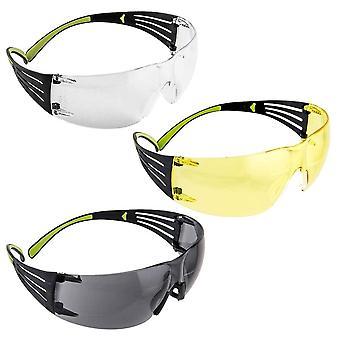 3M Peltor Sport SecureFit 400 lasit, 3 kpl: kirkas, meri pihka, harmaa #SF400-P3PK