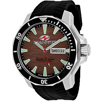 Seapro Men's Scuba Dragon Diver Edición Limitada 1000 Metros Reloj Dial Marrón - SP8315