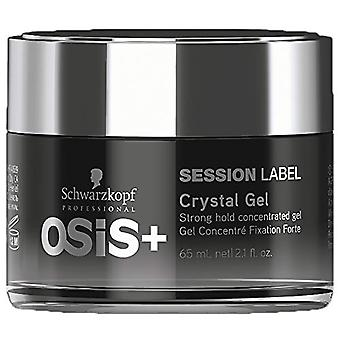OSiS+ SESSION LABEL Crystal GelSuper Concentrated Strong Hold Gel 65ml