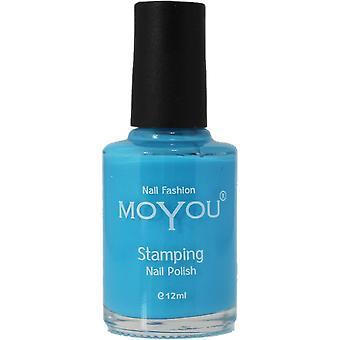 MoYou Stamping Nail Art - Special Nail Polish - Light Blue 12ml